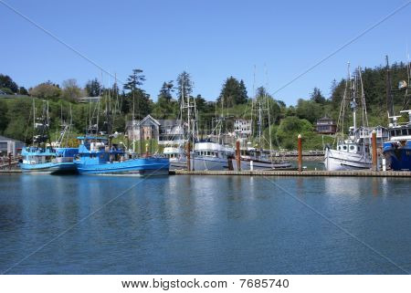 Fishing Boats At Anchor