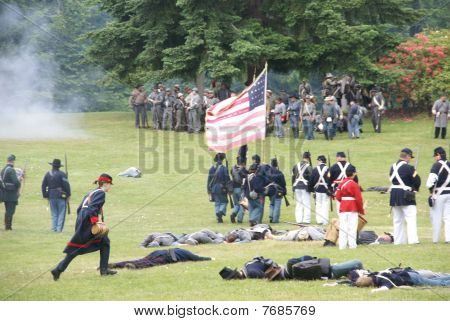 Union Infantry Hold Their Line
