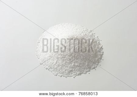 overhead view of pile of coarse salt