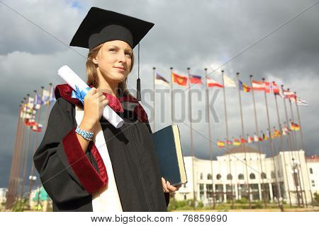 graduate with a diploma