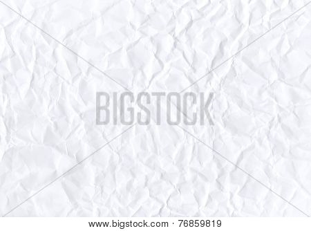 Texture of crumpled horizontal white paper. Vector