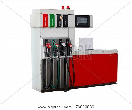 Isolated  fuel dispenser at the gas station