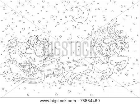 Sleigh of Santa Claus