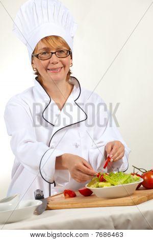 Chef Preparing Salad