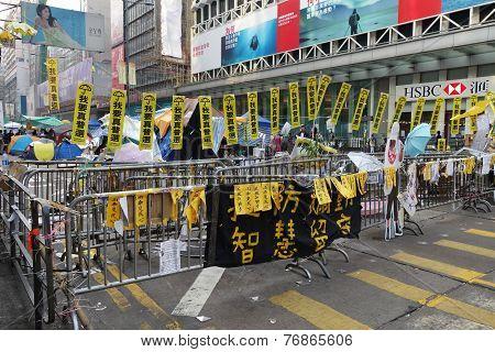 Umbrella Revolution In Mong Kok