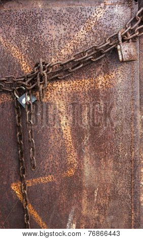 Rusted Padlock And Chain