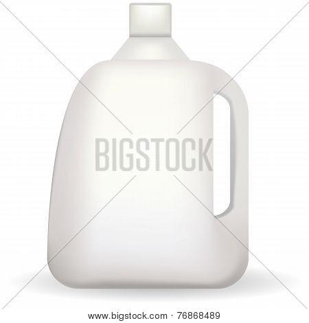 Vector illustration of white plastic bottle