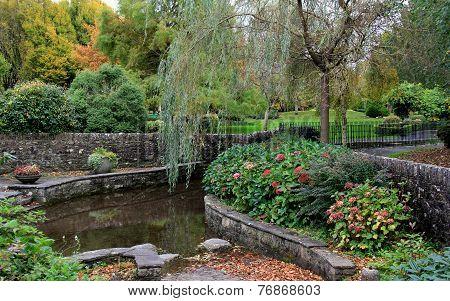 Landscaped public garden