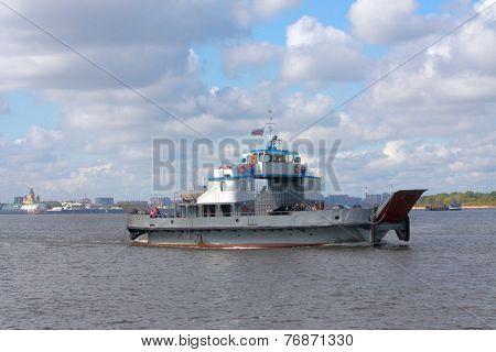 ferryboat on Volga river in Nizhny Novgorod