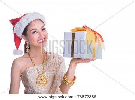 Thai Lady In Vintage Original Thailand Attire