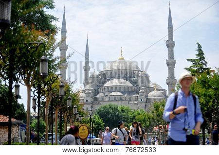 Tourists Around Blue Mosque