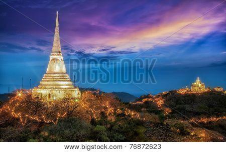 Beautiful Night Light With Phra Nakhon Khiri
