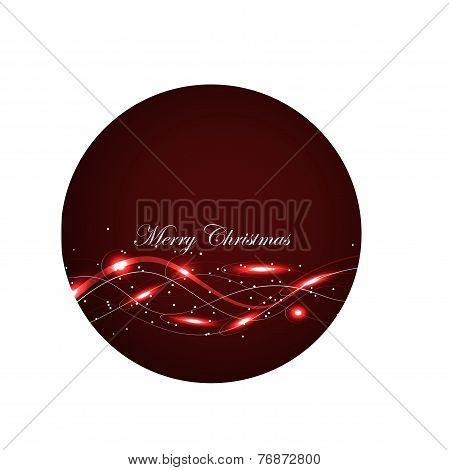 Red Glowing  Christmas Card