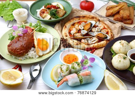 Various dishes in the world