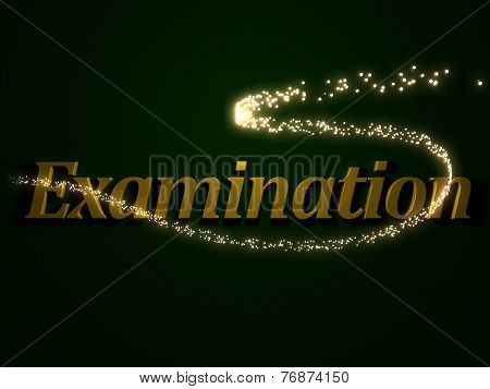 Examination - 3D Inscription With Luminous Line With Spark
