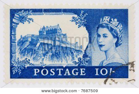 Ten Shilling Stamp Depicting Edinburgh Castle