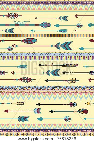 Ethnic Patterns with Arrows