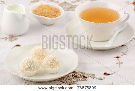 White Chocolate Candies With Tea