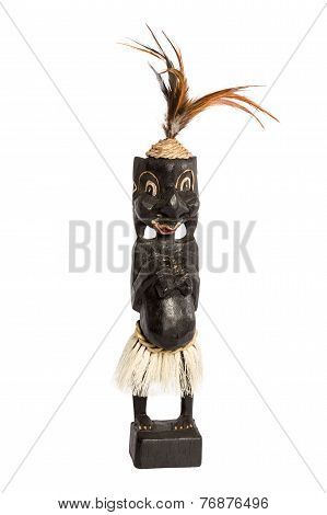 Wooden Figure Of The African Woman