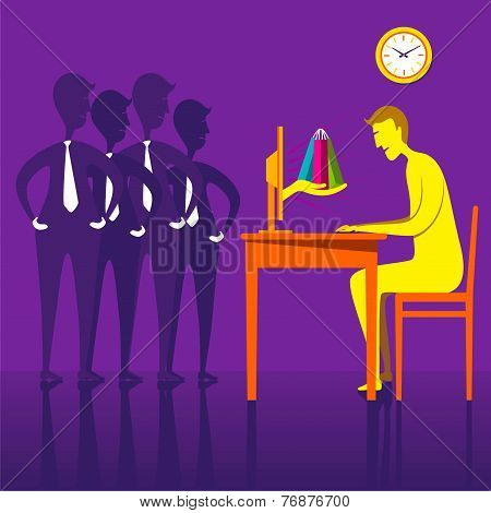 on-line shopping creative design concept vector