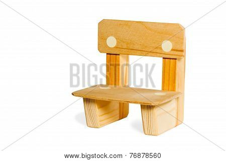 Simple Wooden Kid Chair