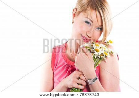 The Joyful Woman With Camomiles