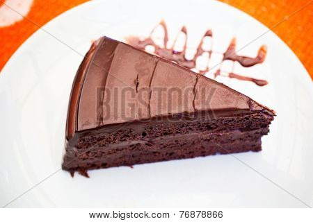 A Pice Of Chocolate Cake