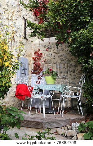 Autumn Provence: Cozy Courtyard In The Village