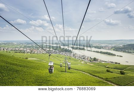 Cable Cars At Rudesheim