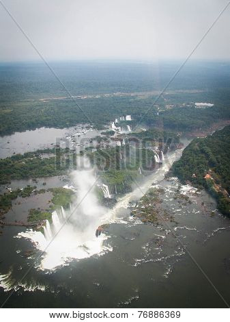 Aerial View Of Iguazzu Falls Portrait
