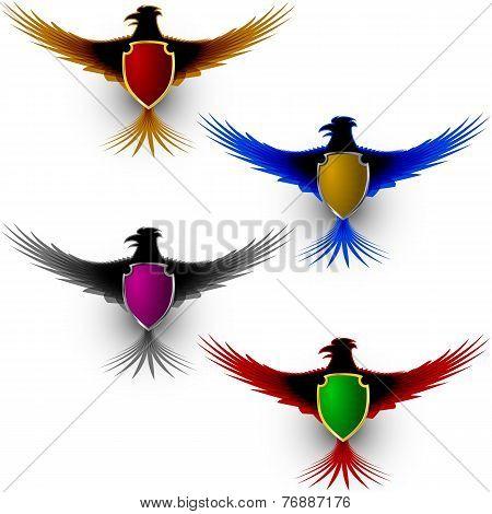 Bird Eagle Honor Shield Sign