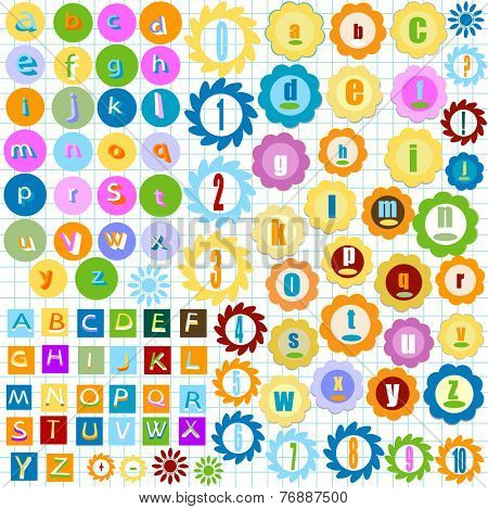 very colorful alphabet for kids
