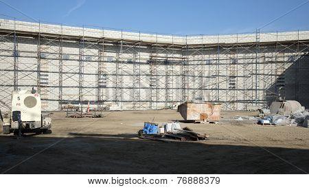 Interior Block Wall Construction
