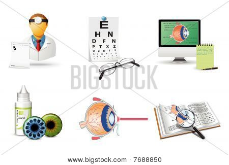 Medical Icons Set - Ophthalmology