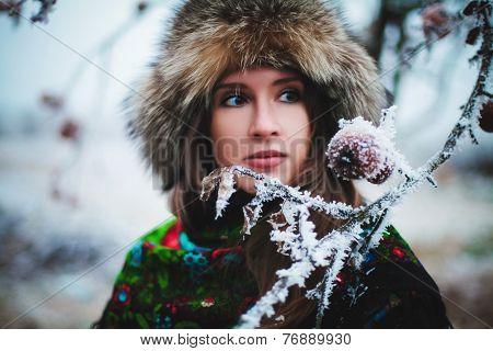 Girl winter.