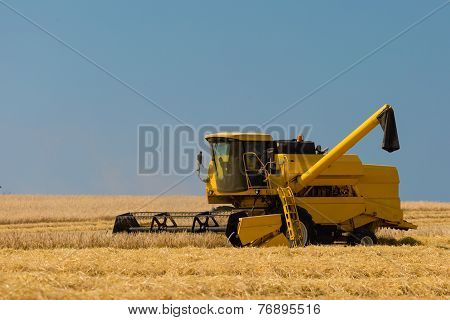 Harvester In Action