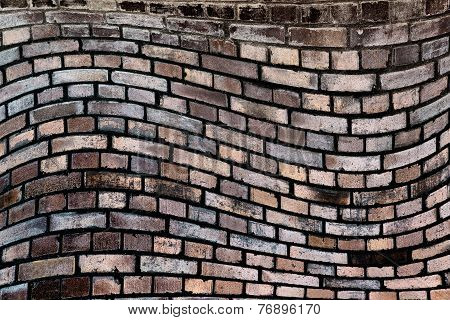 Wavy, Brick Background