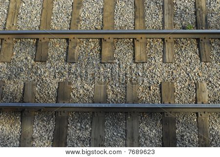 Rails on gravel