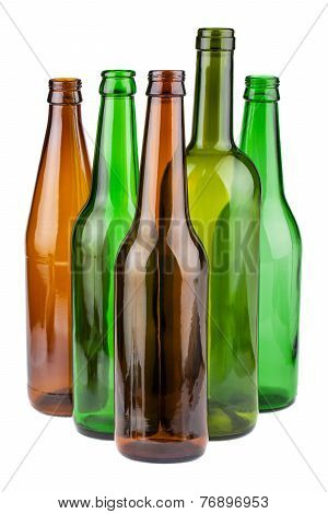 Empty Bottles Without Labels