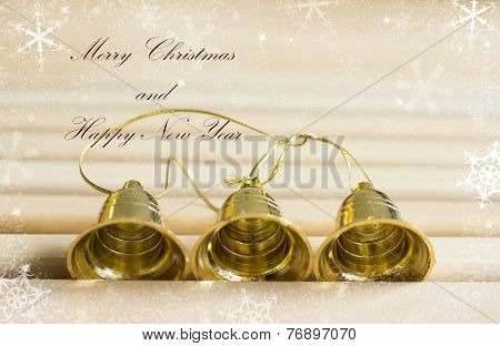 Golden Bells With Text Effect