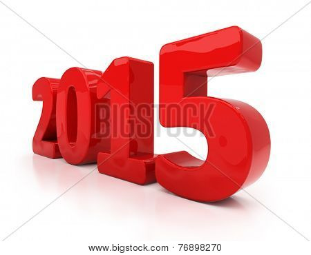 3D graphics: the new 2015 year. Figures shiny, there is a light shadow
