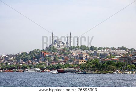 City Skyline With View To The Fatih Mosque, Istanbul