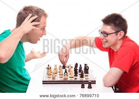 Man Loses While Playing Chess