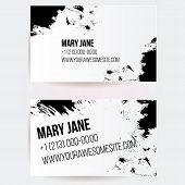 picture of scribes  - Set of creative business card templates with artistic vector design - JPG