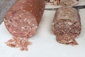 foto of charcuterie  - italian food delicatessen - JPG