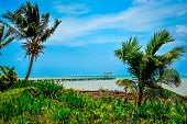 image of off-shore  - Belize has over 400 islands in the Caribbean Sea - JPG