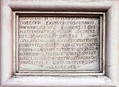 Medieval latin catholic inscription