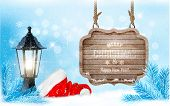 picture of christmas hat  - Winter christmas with a sign - JPG