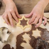 pic of cake-mixer  - Christmas baking prepare child the cake  - JPG