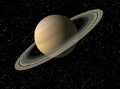 pic of saturn  - Digital 3D Illustration of the Planet Saturn - JPG